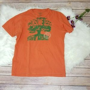 Orange American Eagle Outfitters Recycling T-Shirt